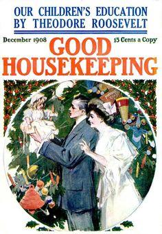 Good Housekeeping, december 1908 Travel Posters, Art, Family Circle