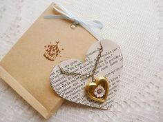https://flic.kr/p/8TeyTB | jewelry packaging~ | I'm having so much fun packaging my items :-) Featuring my hollow heart locket necklace.