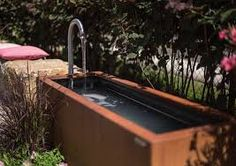 sichtschutz aus edelstahlelementen – Google Suche Outdoor Waterfalls, Aqua, Koi, New Homes, Bathtub, Home And Garden, Outdoor Decor, House, Google