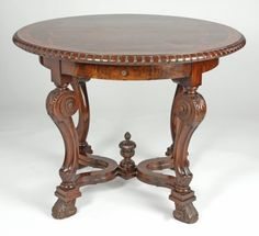 LOUIS PHILIPPE CARVED MAHOGANY CENTER TABLE : Lot 454