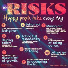 Risk happy people take every day
