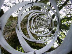 stirred by swirls @ Garden of Cosmic Speculation, Scotland Landscape Art, Landscape Design, Garden Design, Garden Of Cosmic Speculation, Postmodernism, Garden Sculpture, Sculpture Ideas, Garden Landscaping, Scotland