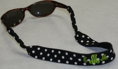 Monogrammed croakies- i have my lilly one monogrammed in pink :)