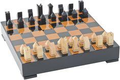Libra's Luxury Chess Set with Walnut and Black Gloss Finish - http://www.artisanti.com/luxury-chess-set-with-walnut-and-black-gloss-finish-13864-p.asp