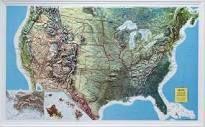 Maine State Raised Relief Map | Raised Relief | Pinterest | Raising
