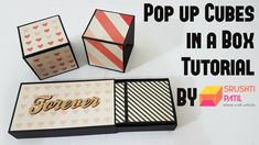 Pop up Cubes in a box Tutorial by Srushti Patil Box Cards Tutorial, Card Tutorials, Valentine Special, Valentines Diy, Cube Photo, Diy Exploding Box, Pop Cubes, Explosion Box Tutorial, Tarjetas Pop Up