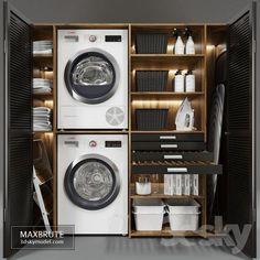 Laundry Decor, Laundry Room Organization, Laundry Room Design, Laundry In Bathroom, Bathroom Sets, Laundry Nook, Laundry Closet, Modern Laundry Rooms, Laundry Room Layouts