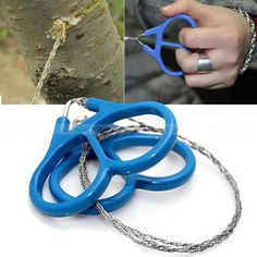 Stainless Steel Ring Wire Hiking Camping Hunting Adventure Scroll String Saws Outdoor Survival Necessary Tool