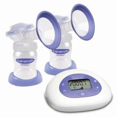 Lansinoh® Smartpump™ Double Electric Breast Pump in Purple/White - www.buybuyBaby.com