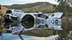 Ott Tänak and Raigo Mõlder's Ford Fiesta RS was winched out of a lake by a crane after 10 hours beneath the water following an off course excursion at Rally Mexico 2015.  Remarkably, the M-Sport mechanics had it running again in just three hours and restarted for Sunday's final leg to finish the rally.