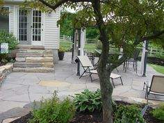 love the flagstone patio and steps