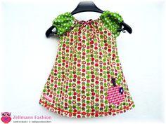 Apfel+Kleid+Tunika+Punkte+Apfelkleid+Apple+von+Zellmann+Fashion+auf+DaWanda.com