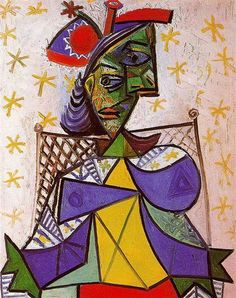 PABLO PICASSO, Woman sitting in an armchair