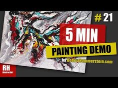 Abstract Painting Dem / FUN with Acrylic Paints / Satisfying & Relaxing Demo / - Nekkar Painting Videos, Abstract Art, Give It To Me, Make It Yourself, Youtube, Fun, Youtubers, Lol, Funny