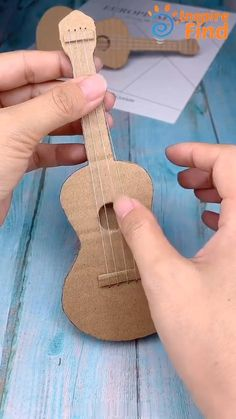 for music lovers #diy #crafts #handmadecrafts #DIY #Guitar #Toy Diy Crafts Hacks, Diy Crafts For Gifts, Diy Arts And Crafts, Craft Stick Crafts, Creative Crafts, Diy Projects, Furniture Projects, Wood Crafts, Diy Furniture