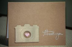 One Handmade Thank You Card Photographer's Thank by strandedpaper,