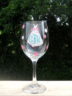 Personalized Bride Wine Glass Free Shipping by customvinylbydesign, $10.75
