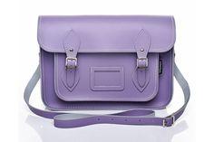 pastel lilac cambridge satchel