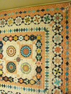 Sunflower quilt using Inklingo patterns
