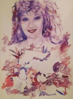 "Custom portrait. 8.5×11"" Watercolour, painted July 2015 by Quinn Lockman"