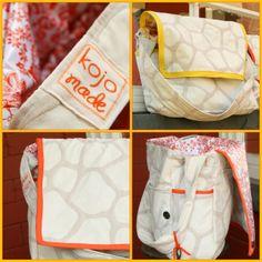 DIY Diaper Bag    http://amingledyarn.wordpress.com/gallery/tutorial-hip-mama-diaper-bag/