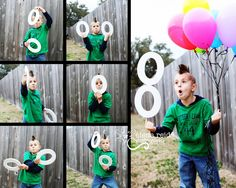 Great way to mark turning EIGHT....the six pictures are outtakes while testing light and then editing to make the eight. Come visit me on facebook https://www.facebook.com/ElenaReidPhotography