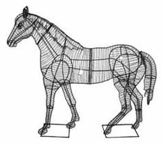 Topiary Horse Frames - Green Horizon Wire Art