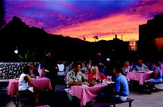 Sunset at Pinnacle Peak Patio Steakhouse in Scottsdale, AZ.  http://www.pppatio.com