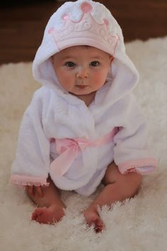 Cella Jane Blog | Baby Aspen Giveaway | Baby Princess Bathrobe. Too adorable!