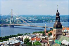 Vansu Bridge, Old Town of Riga, Latvia