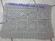 Resultado de imagem para tapete de croche simples com grafico
