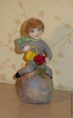 """Купить Валяная игрушка """" Маленький принц"""" - разноцветный, мальчик, принц, Франция"""
