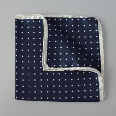 Pañuelo Marino Lunares Blancos Pocket Squares, Polka Dots, Sailor, Pockets, White People