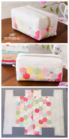 DIY Hexie Block Zip Pouch Free Sewing Pattern & Tutorial The particular umbrella – this Bag Pattern Free, Pouch Pattern, Bag Patterns To Sew, Sewing Patterns Free, Free Sewing, Sewing Tutorials, Makeup Bag Tutorials, Beginners Sewing, Tutorial Sewing