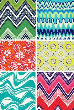 Trina Turk Fabrics. Graphic, Modern  - but with a sense of fun and whimsy.  Love