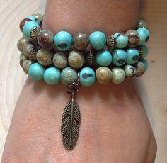 Acai seed bead bracelet.  Gypsymelange.com