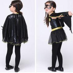 Children's Cosplay cartoon Costume Girls Dance performance clothing Batman play Halloween costumes