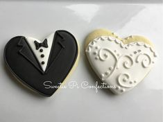 Wedding Cookies Bride and Groom Heart Shaped Wedding Favors Bridal Shower Bachelorette Party by SweetiePiConfections on Etsy Wedding Shower Cookies, Wedding Cake Cookies, Cookie Wedding Favors, Bridal Shower, Decorated Wedding Cookies, Engagement Party Cookies, Snowflake Cookies, Heart Cookies, Cut Out Cookies