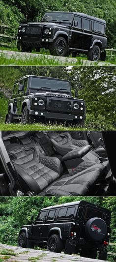 2015 Land Rover Defender by Kahn Design. Would like to make my Jeep look like this! Land Rover Defender 110, Defender 90, Land Rover Defender Interior, My Dream Car, Dream Cars, M Bmw, Kahn Design, Automobile, Landrover