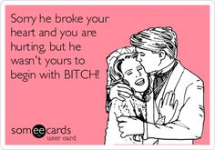 This is beyond perfect! I had him first you dumb bitch! We were ENGAGED!!! You came along after I left him!!! He found out what a crack headed whore you were and wanted me back and now I'm the home wrecker! No sweetheart he was mine FIRST! Get the fuck over it!