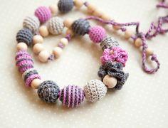 Boho style Teething Necklace  Nursing necklace by bysiki on Etsy, $35.00