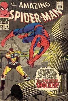 The Amazing Spiderman Spider-Man 46 vintage Marvel comic book app Shocker Marvel Comics, Hq Marvel, Marvel Comic Books, Comic Books Art, Marvel Heroes, Amazing Spiderman, Amazing Spider Man Comic, Spiderman Classic, Spiderman Comic Books