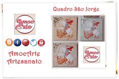 Quadros São Jorge http://amocarte.blogspot.com.br/