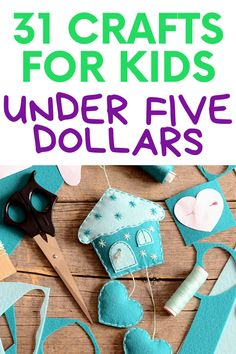 31 engaging crafts for kids that cost under five dollars, dollar tree crafts that are fun for kids and won't cost you a lot, crafts for kids that are easy and simple, but not expensive, crafts for toddlers, toddler crafts, kids crafts, crafts kids will actually love to do, cheap crafts for kids Science Crafts, Preschool Crafts, Kids Crafts, Homemade Stamps, Easy Toddler Crafts, Homemade Bubbles, Paper Weaving, Popsicle Stick Crafts, Dollar Tree Crafts
