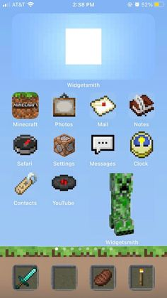 Ce joueur a mis un thème #Minecraft sur son Iphone avec IOS14. Vous en pensez quoi ? Iphone App Design, Iphone App Layout, Ios Design, Minecraft App, Minecraft Pictures, Mc Wallpaper, Iphone Wallpaper Ios, Iphone Home Screen Layout, Minecraft Wallpaper