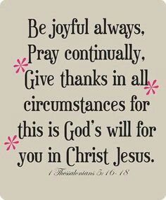 Be joyful in Jesus's name