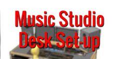 Music Studio Desk Setup - Mixing Mastering Resources - http://mixingmastering.co.uk/music-studio-desk-setup/