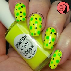 Lady Maid Nails: Dragon Claw Polish, Banana Dots