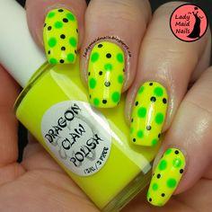 Lady Maid Nails: Dragon Claw Polish, Banana Dots