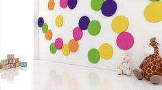 Pokój dla dziecka. Pokój niemowlaka. Pokój dziecięcy. Kolekcja Fluffo DOTS. design, architektura wnętrz, interior design, panele ścienne, panele 3d, panele ścienne 3d, ściana 3d, dekoracje ścienne, ozdoby ścienne, pomysł na ścianę, aranżacja ściany, miękkie panele ścienne 3d, Fluffo, Fabryka Miękkich Ścian